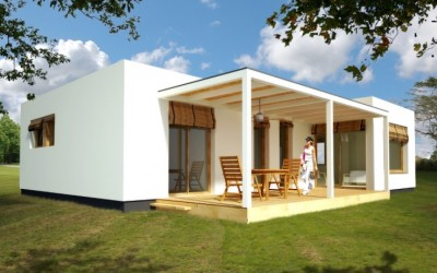 Casas de madera modernas casas de madera econ micas en for Casa moderna 90m2